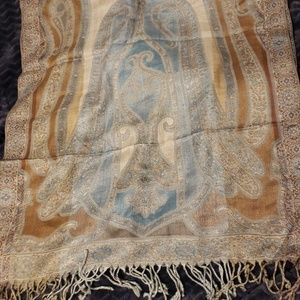 Collection XIIX Accessories - Blue/tan Collection XIIX paisley scarf/shawl/wrap